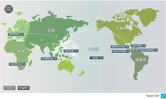 國合會農業援外地圖。