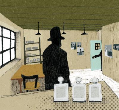 入選波隆那插畫展的《最後三件事》,描繪作者的內心風景。 (徐銘宏提供)