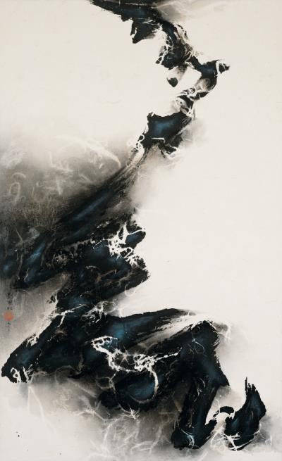 1963年畫作《升向白茫茫的未知》