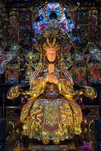 媽祖,極富傳奇性,是地方重要信仰。(莊坤儒攝)