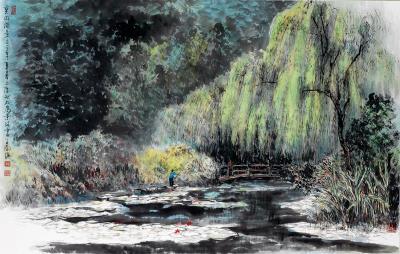 《莫內湖景》(王南雄提供)