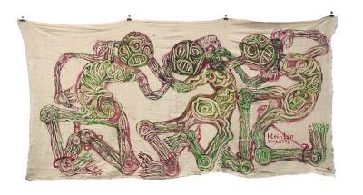 緬甸藝術家登林坐牢時,以監獄制服創作〈00235〉系列作品。