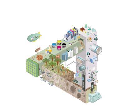 在紙製品的印刷中,使用健康可循環的材料,可更有效率地應用森林資源。(EPEA台灣分公司提供)