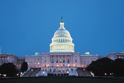 美國國會大廈是世界上知名民主代議政治的象徵之一。(林格立攝)