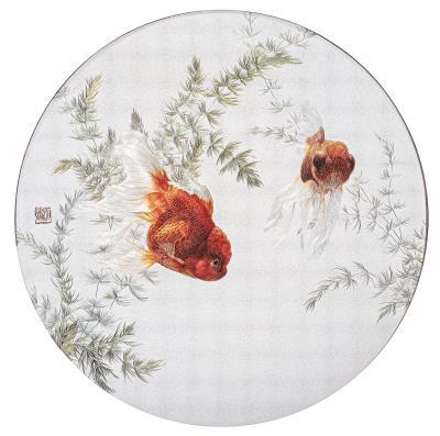 大量的刺繡藏品,也是鳳甲的重要特色,吸引到許多人特地前往觀賞。(鳳甲美術館提供)