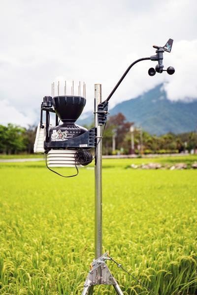 透過微氣象站記錄稻米生長情況,可以作為施肥、灌溉以及病蟲害防治的參考。