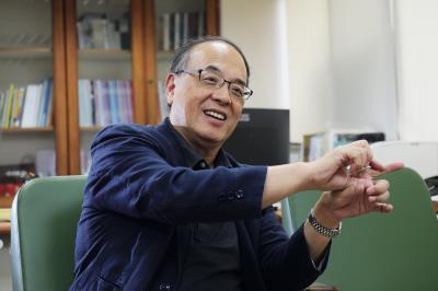 藍祖蔚受命擔任影視聽中心首任董事長,他希望建立台灣自1895年以來的視聽史。(林格立攝)