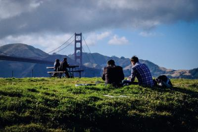 Minerva Schools體驗城市之一:美國舊金山, 圖為境內金門大橋。